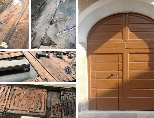 Ristrutturazione portone in legno – Oggiono